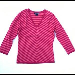 Ann Taylor Chevron Stripe Sweater